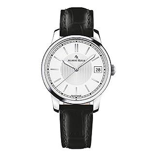 Albert Riele Damen Armbanduhr CONCERTO Analog Quarz schwarzes Lederarmband 206LQ02-SS33I-LB