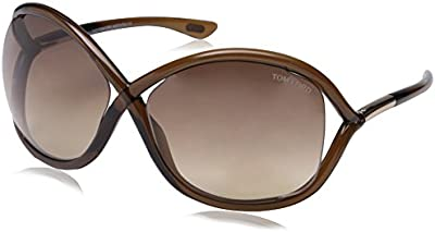 Tom Ford Gafas de sol Para Mujer 0009 Whitney - 692: Marrón obscuro transparente, detailles oro rosa