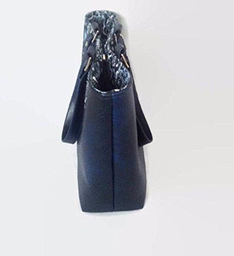Faux Leather Floral Handbag - handmade-bags