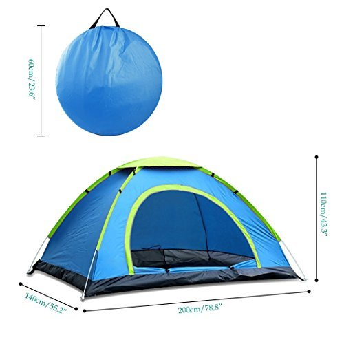 Tomasa 2-3 Person Pop-up Zelt Camping Zelt Outdoor trekking zelt Automatik Instant Setup 210D oxford Wasserdicht Wandern Zelt