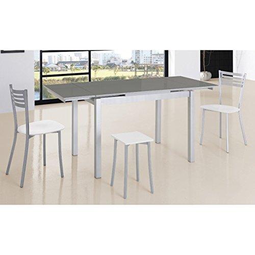 SHIITO Mesa de Cocina Extensible de 110x70 cm con Dos alas y Tapa ...