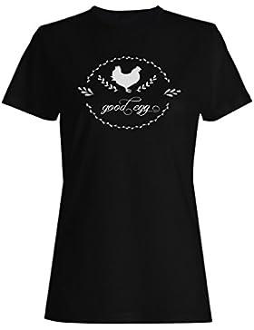 Buen Huevo camiseta de las mujeres j863f