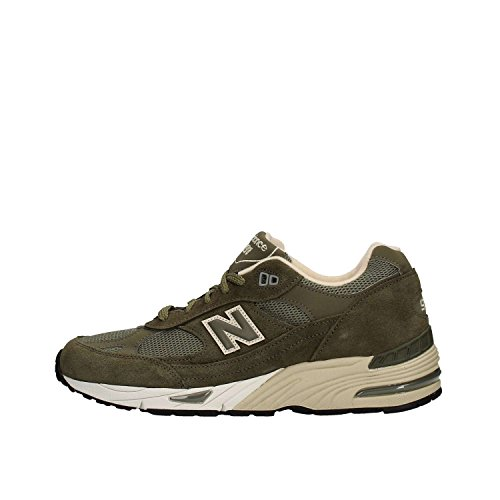 SNEAKER NB 991 MADE IN ENGLAND IN PELLE E MESH Olive