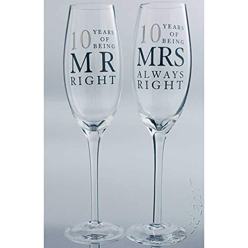 10. Dose Hochzeit Jahrestag Geschenk Brille