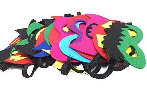 GRANDLIN 32 x Cartoon-Masken für Kinder, Filzmasken für Partys, Geburtstage, Cosplay-Figuren für Kinder, Party, Gastgeschenke, für Kinder, Jungen und - Cartoon Figur Kostüm Mädchen
