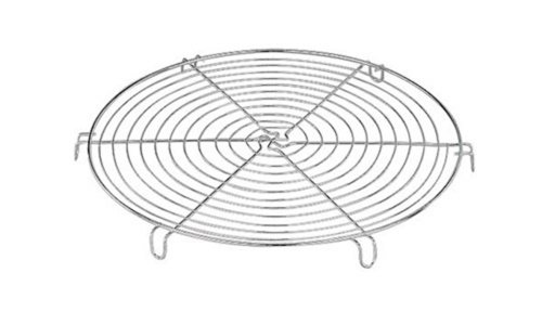 Paderno Chrome Plated Wire Round Cake Cooling Rack Tray 300mm Diam