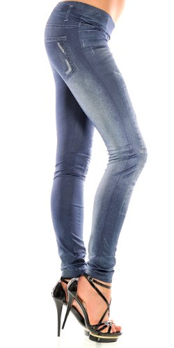 Balingi Jeans Leggings Destroyed Look BASX111 Blau