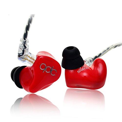 QDC 3S HiFi In Ear Earphone Triple Driver Balanced Armature Bass Noise Earphone Red (Triple-balanced-armature -)