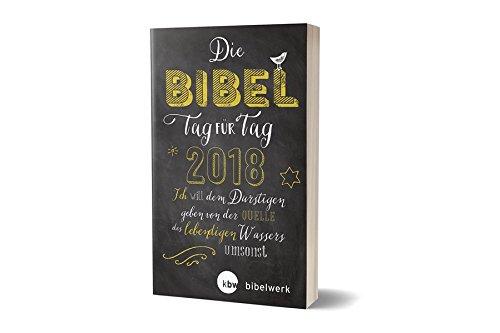 """Die Bibel Tag für Tag 2018 / Für junge Christen / """"Chalk Lettering"""": Ich will dem Durstigen geben von der Quelle des lebendigen Wassers umsonst"""