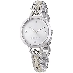 Esprit Lily Women's Quartz Watch with Silver Dial Analogue Display and Silver Stainless Steel Bracelet ES107952001