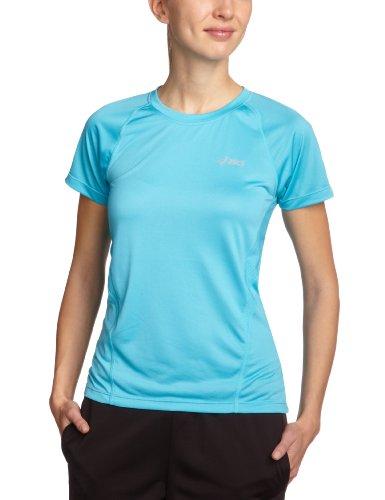 ASICS Vesta Crew T-shirt de course à manches courtes pour femme performance black/aquarium