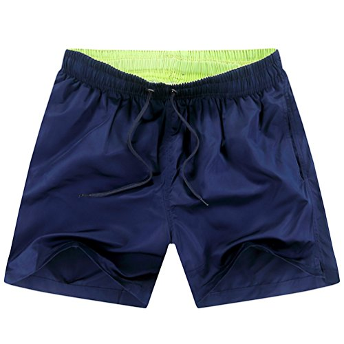 NiSeng Hommes Shorts De Bain Maillots De Bain Short De Natation Shorts De Plage Bleu Profond