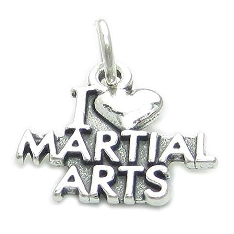 I Love Martial Arts sterling Silber 925-1 Anhänger CF4704 Karate, Kung Fu (Sterling Martial Arts)