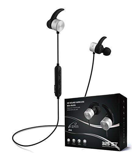 K-ZAR Ecouteurs Bluetooth 4.1, Mini Oreillettes Sans fil Sport, Son Stéréo HD, Ecouteurs magnétiques Anti Sueur, Micro Intégré, Réduction de bruit, étui de transport, compatibilité universelle