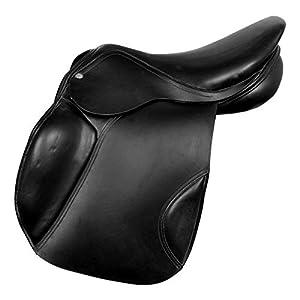Radical Leder-Sattel für Englisches Pferd, universell einsetzbar, Größe 35,6-45,7 cm