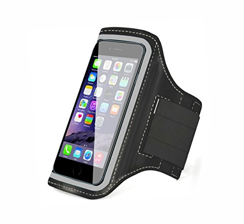 TANTRA Mobi-Silver Armband, Adjustable Sports Running, Jogging, Gym, Yoga, Anti-Slip Mobile Holder Like I-Phone 6, 6s, 7 & Redmi-2 Etc (Size 4.7 Inches, Black & Silver)