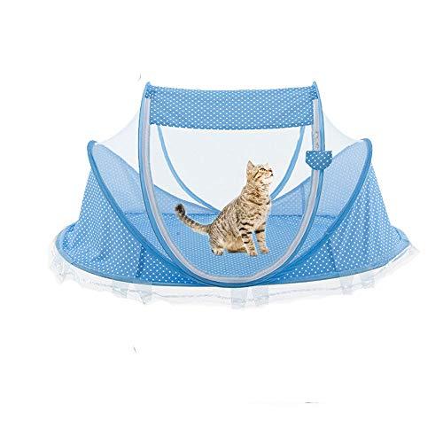 HanryDong Cajones Sala de Parto para Mascotas, Almohadilla, Jaula de Gato portátil, Parque para Perros, Seguro al Aire Libre, terraza, automóvil, Viajes, Carpa Divertida, casa sin estrés.