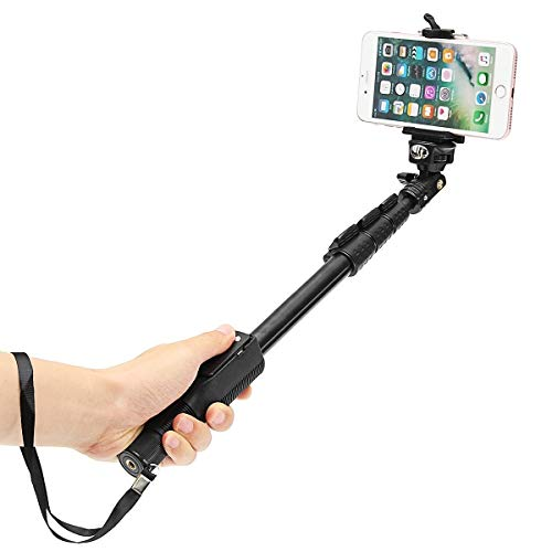Cabriza F5F Bluetooth Remote Selfie Stick for All Smartphone, Camera (Assorted Colour)
