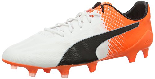 Puma evoSPEED SL II Tricks FG, Chaussures de football homme Blanc (puma white-puma Black-SHOCKING Orange 06)