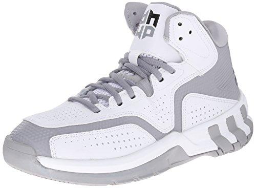 Nuovo Adidas D Howard 6 scarpa da basket nero / rosso scarlatto 6 White/Dark Grey/Light Grey