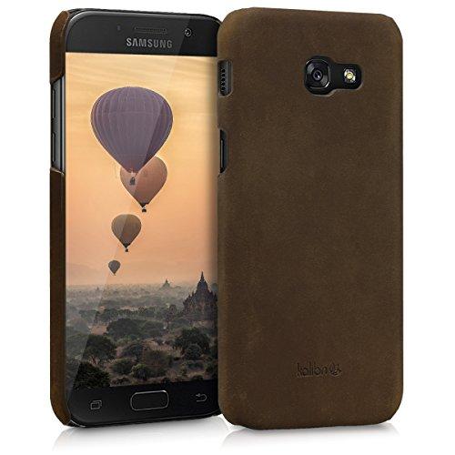 kalibri-Echtleder-Backcover-Hlle-fr-Samsung-Galaxy-A5-2017-Leder-Case-Cover-Schutzhlle-in-Braun