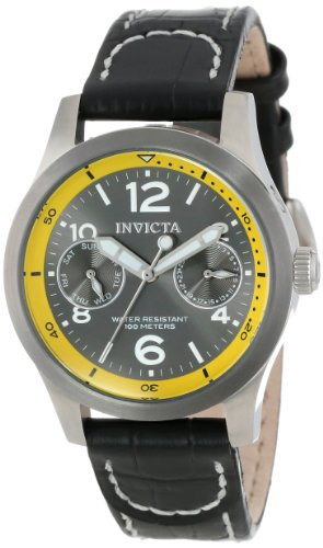 Invicta I-Force Damen-Armbanduhr Armband Leder Gehäuse Edelstahl Quarz 14143 - Leder Invicta Frauen Uhren