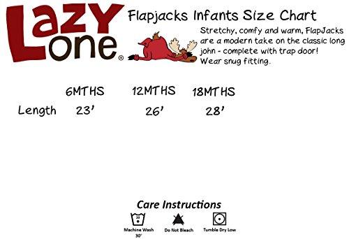 LazyOne Jungen Classic Moose Blue Flapjack Onesie Kinder 18 Monate