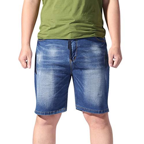 ZEZKT Jeans Kurze Hose Beachshorts für Herren, Cargo Shorts Stretch Atmungsaktiv Männer Badeshorts Pocket Gemütlich Hosen Urlaub Strand Bottoms Schwimmen Sport Sommer Kurz Hose Pocket Bottoms Jeans