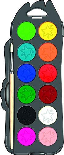 Maped Color'Peps 811520 Boîte de 12 Pastilles de gouache ultra lavable 30 mm