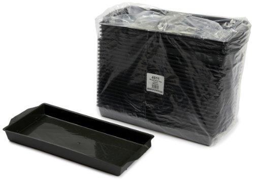 Oasis Kunststoffschalen für Frischblumen-Steckschaum-Ziegel, 25 Stück, grün (Hat Funeral Black)