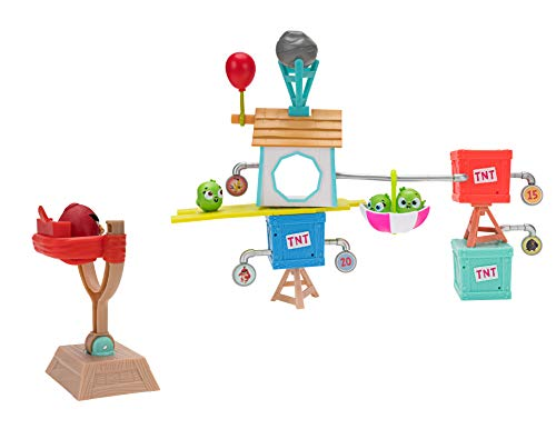 Angry Birds ANB0015 Pig City Build 'n Launch Spielset, mehrere Farben (Luftballons Birds Angry)