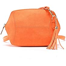 Bolsos bandolera, Sannysis Bolsa de cuero bolso mujer pequeño, 21x4x17 cm (B x H x T) (Naranja)