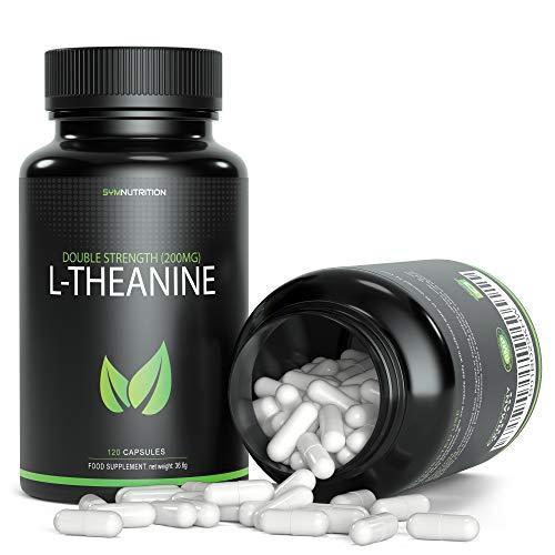 L-Theanin 200mg - 120 pflanzliche Kapseln | Einnahme zur besseren Konzentrationsfähigkeit, Entspannung & Stressabbau -