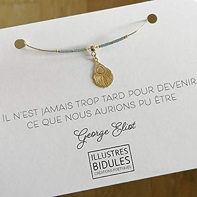 Bracelet porte bonheur à citation motivante