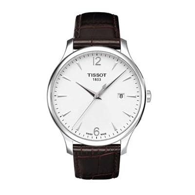 Tissot T0636101603700 - Reloj analógico de cuarzo para hombre con correa de piel, color plateado de Tissot