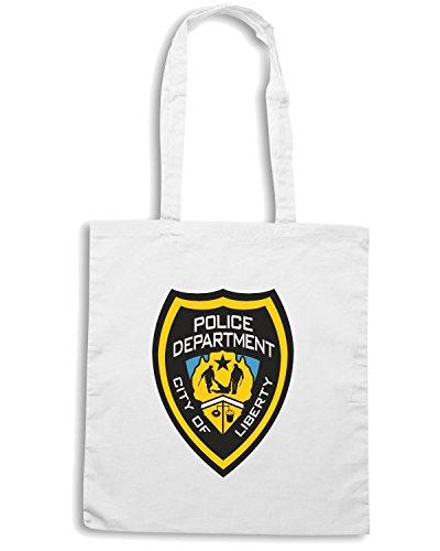 T-Shirtshock - Borsa Shopping TM0102 Liberty City Police citta Bianco