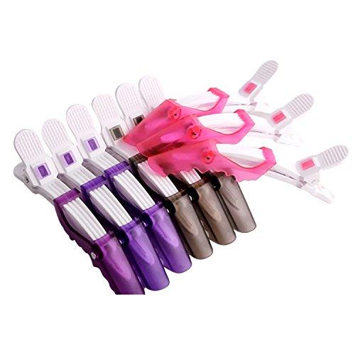 Vococal® Pince à Cheveux Crocodile 5Pcs pour Coiffure Pince Cheveux Styliseurs de Sectionnement Couleur Aléatoire