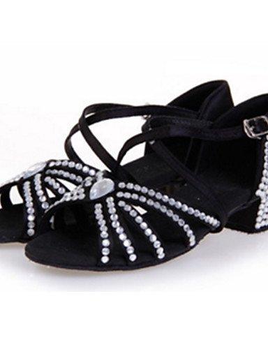 La mode moderne Sandales femmes personnalisables Chaussures de danse latine Satin Satin talon aiguille Sandales piscine bleu vert rouge blanc rouge argent Drak US5/EU35/UK3/CN34