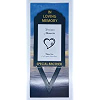 "In Loving Memory Special Brother 6"" x 4"" Photo Frame Holder Memorial Grave Spike By David Fischhoff"