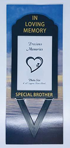 In Loving Memory David Fischhoff Cadre Photo en Forme de cœur Inscription Special Brother 15,2 x 10,2 cm