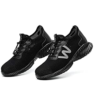 41LnF8ZqP3L. SS300  - Verano Calzado de Seguridad Ligero Antideslizante, en Sitio Montaña Asfalto, Nuevo Zapatos de Trabajo Industrial Deportivo para Hombre Mujer