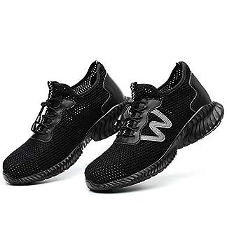 Verano Calzado de Seguridad Ligero Antideslizante, en Sitio Montaña Asfalto, Nuevo Zapatos de Trabajo Industrial Deportivo para Hombre Mujer