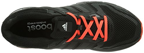 adidas Revenergy Mesh Boost, Herren Laufschuhe Schwarz (Black 1 / Black 1 / Infrared)