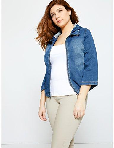 Fiorella Rubino - Sweat - Shirt En Denim De Coton Bleu