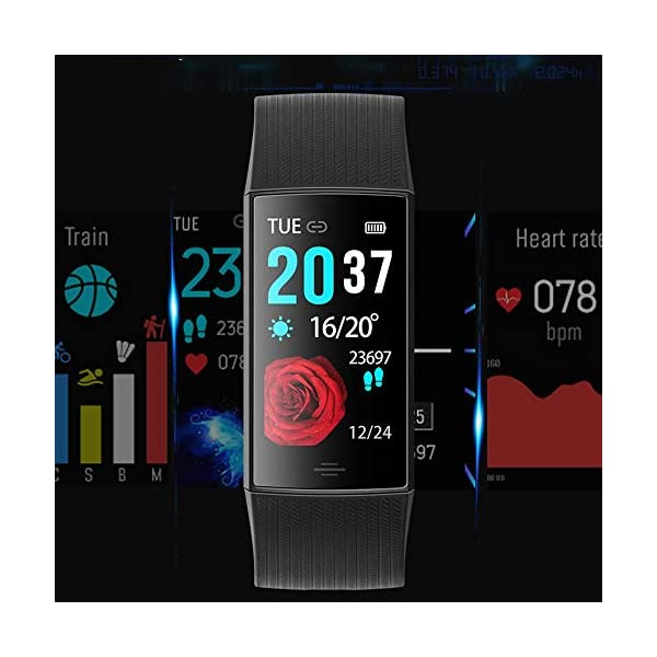 NUYAN Sport-ArmbandReloj Fitness Tracker, Reloj Inteligente podómetro Smart Fitness Activity Tracker con GPS Conectado Running Sports Watch para Mujeres Hombres niños 9
