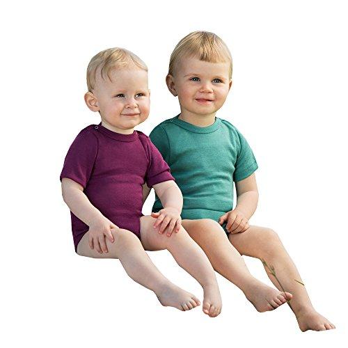 Engel Baby/Kinder Body Kurzarm Bio-Schurwolle/Seide Orchidee 86/92 (Bio-baby-nachtwäsche)