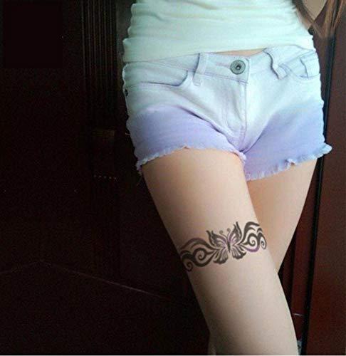Ruofengpuzi 20x10cm grande soluzione avanzata colorata sexy bellezza farfalla corona designer autoadesivo del tatuaggio temporaneo