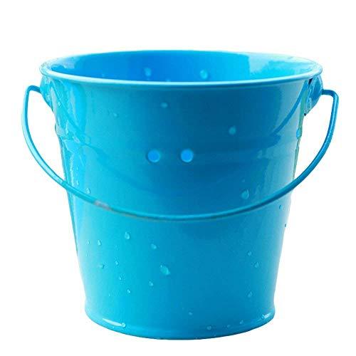 Goodplan Mini Eimer mit Griff Zinn Pralinenschachtel Eimer Anlage Eimer Souvenirs Geschenk für Hochzeit Baby Duschen Verwenden 1 STÜCKE Blau