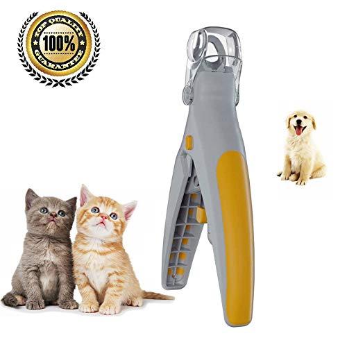 Shinsaky Pet Nail Clipper, Nagelknipser Pet Dog Cat Nail Trimmer,Sicherheitspflege Schere und LED-Licht Beleuchtung Vermeidung Überschneidung,für Professional Kleine Tiere Puppy