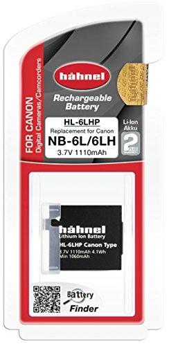 Hähnel HL 6LHP Li-Ion Akku für Canon Digitalkameras - Ersatzakku für Canon NB-6L schwarz